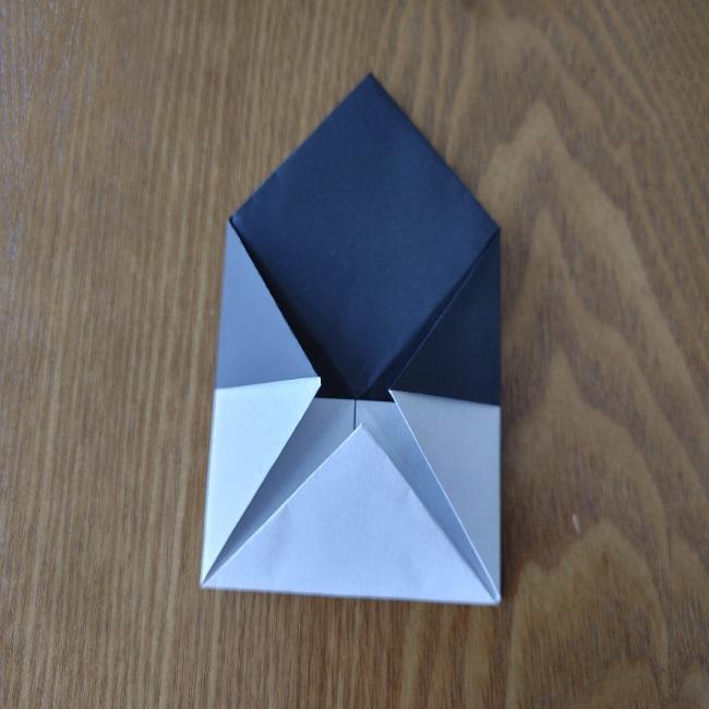 おたふくの折り紙 簡単な折り方 (10)
