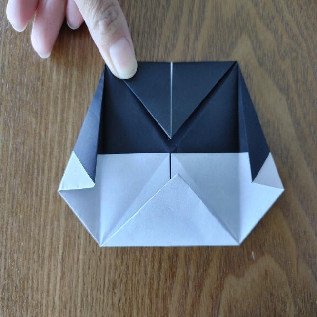おたふくの折り紙 簡単な折り方 (13)