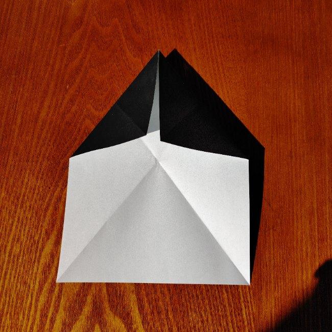 おたふくの折り紙 簡単な折り方 (5)