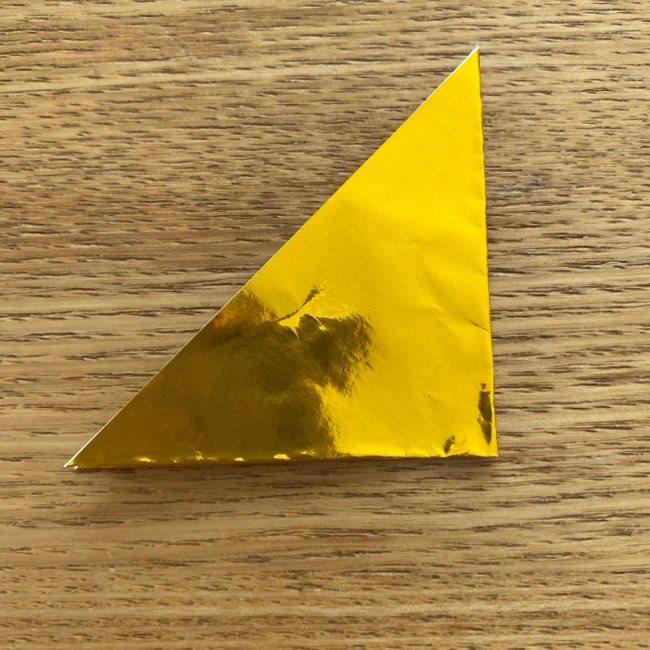 お内裏様のしゃくの折り紙:折り方 (3)