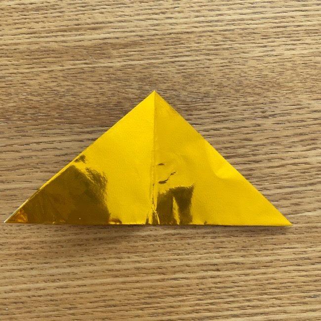 お内裏様のしゃくの折り紙:折り方 (4)