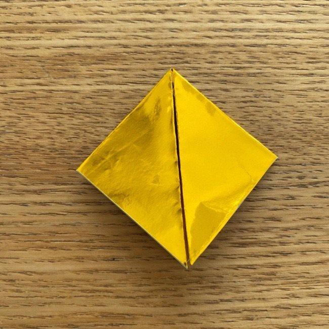 お内裏様のしゃくの折り紙:折り方 (6)