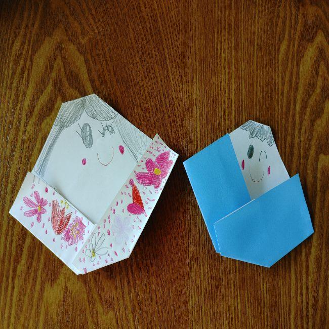 お雛様の折り紙は簡単♪子どもから高齢者まで楽しめる(小学生)
