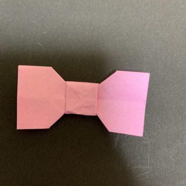 かわいい折り紙のリボン☆簡単・幼児でもつくれる折り方・作り方(はさみなし)