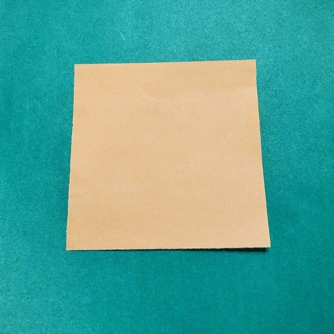 きめつのやいばの折り紙【いぐろおばない(伊黒小芭内)】作り方 (1)