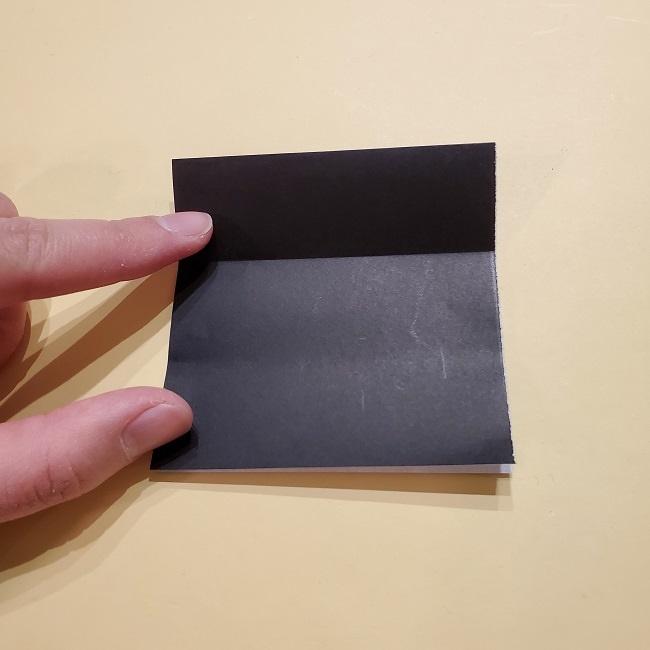 きめつのやいばの折り紙【いぐろおばない(伊黒小芭内)】作り方 (18)