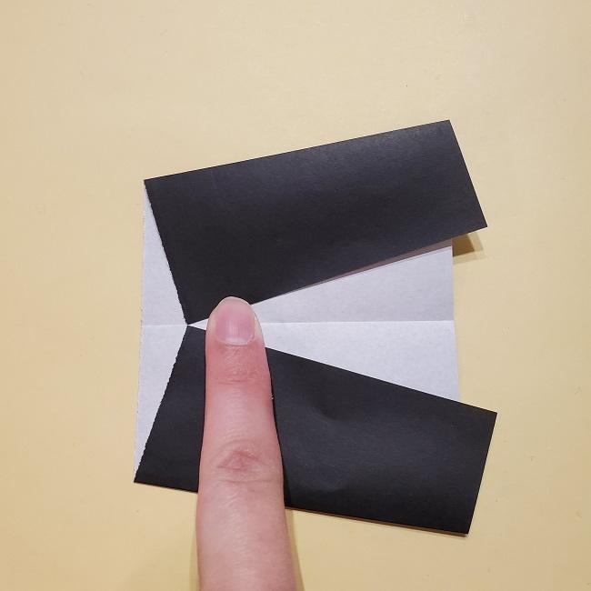 きめつのやいばの折り紙【いぐろおばない(伊黒小芭内)】作り方 (28)