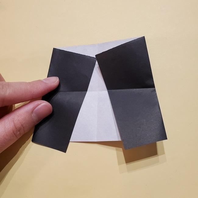 きめつのやいばの折り紙【いぐろおばない(伊黒小芭内)】作り方 (30)
