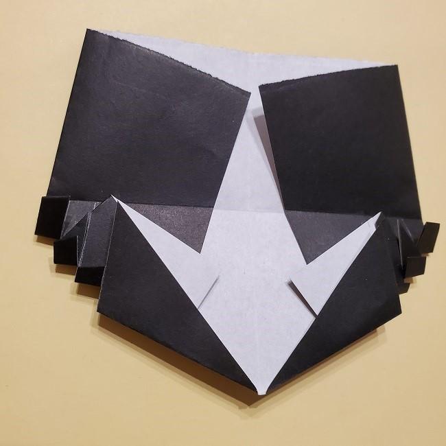 きめつのやいばの折り紙【いぐろおばない(伊黒小芭内)】作り方 (34)