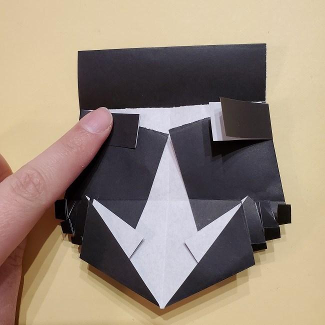 きめつのやいばの折り紙【いぐろおばない(伊黒小芭内)】作り方 (37)