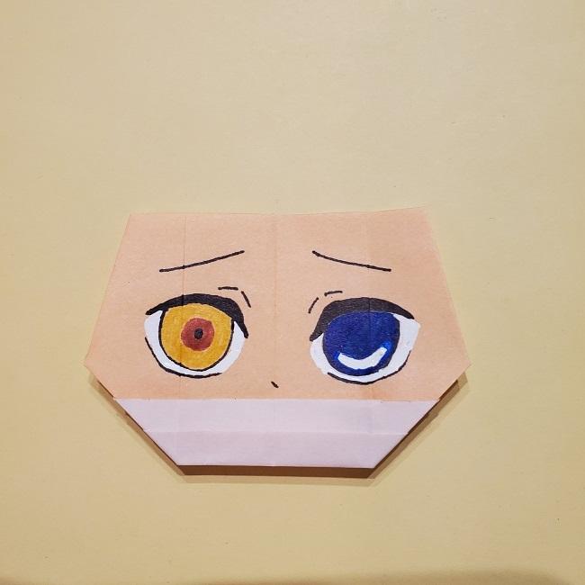 きめつのやいばの折り紙【いぐろおばない(伊黒小芭内)】作り方 (40)