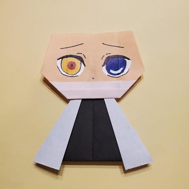 きめつのやいばの折り紙【いぐろおばない(伊黒小芭内)】作り方 (48)