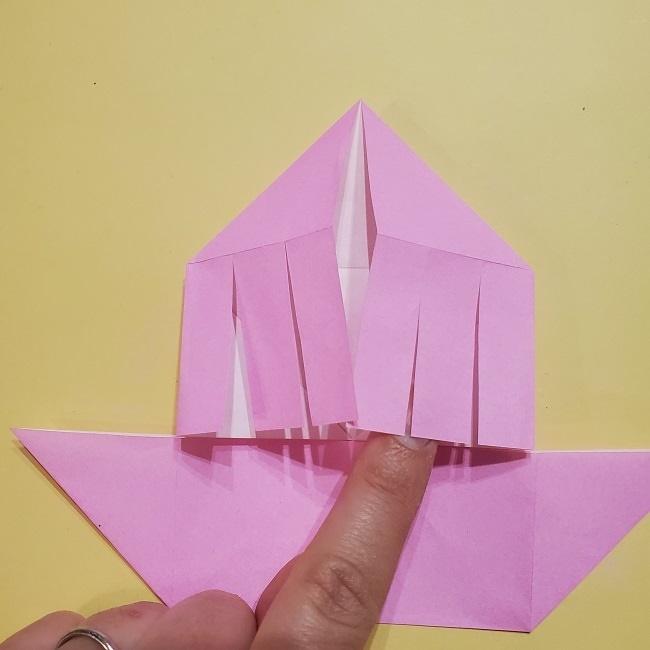 きめつのやいばの折り紙 みつりの折り方 (18)