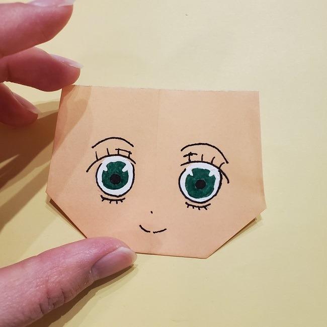 きめつのやいばの折り紙 みつりの折り方 (26)