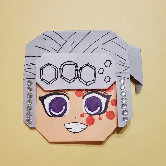 きめつのやいばの折り紙 宇髄天元(うずいてんげん)の折り方作り方 (37)