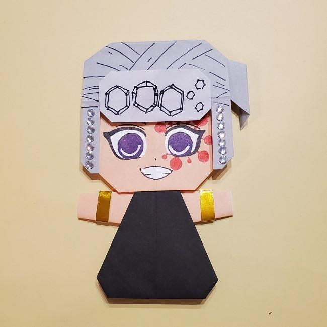 きめつのやいばの折り紙 宇髄天元(うずいてんげん)の折り方作り方 (55)