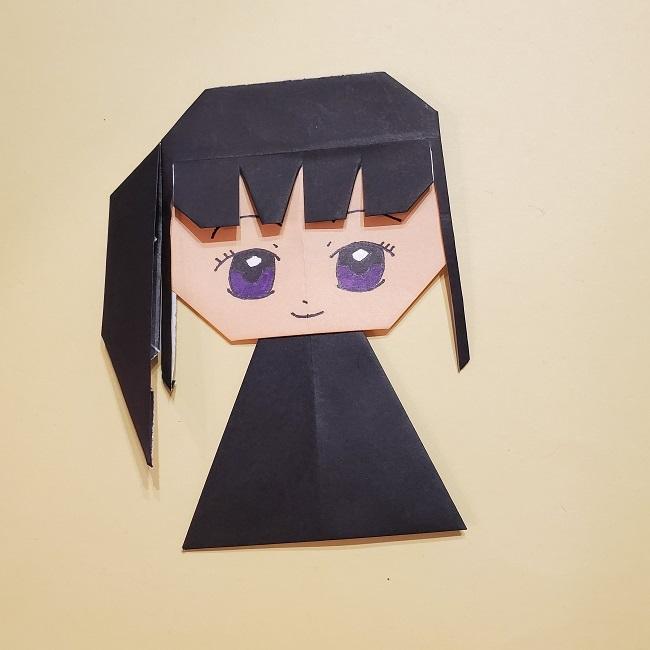 きめつの刃 折り紙★カナヲの折り方 (38)
