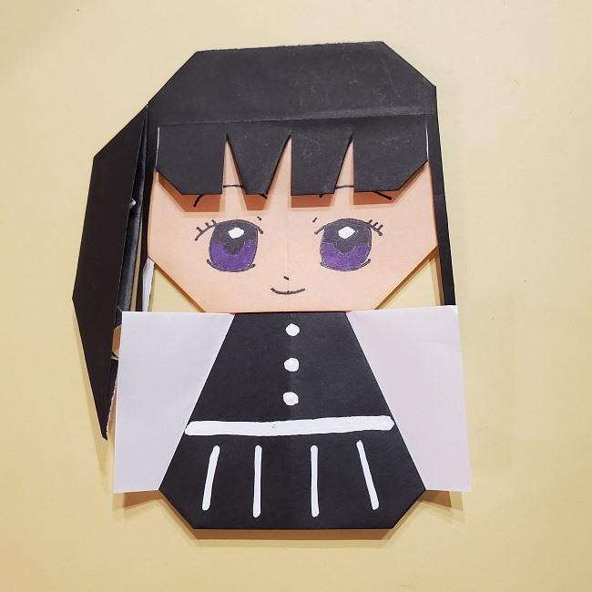 きめつの刃 折り紙★カナヲの折り方 (46)