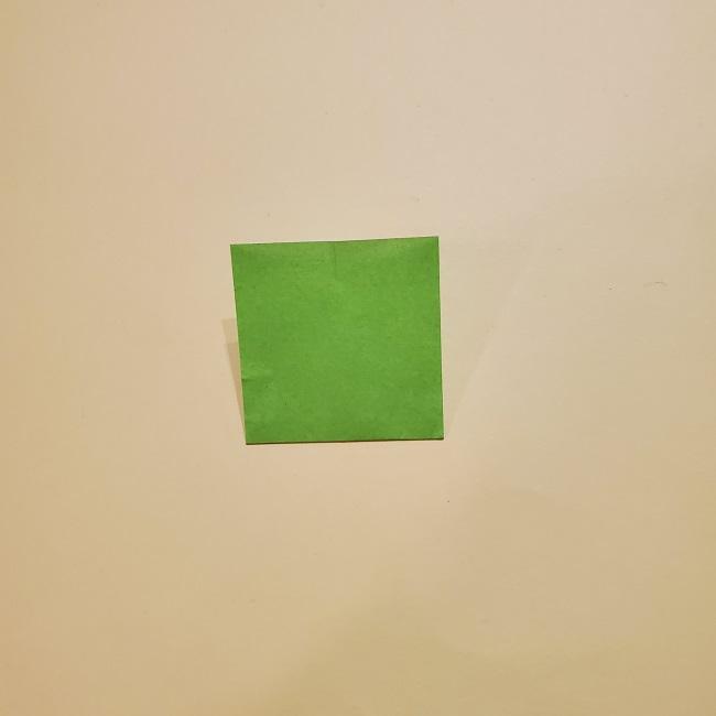 カナヲの髪飾りの作り方 折り紙は黄緑色