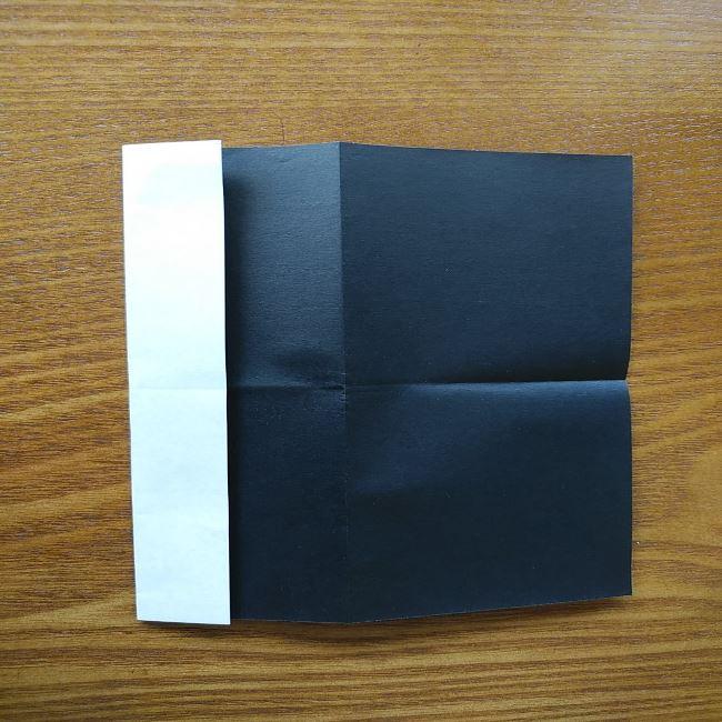 すみっこぐらし『おにぎり』の折り紙*折り方(平面) (5)