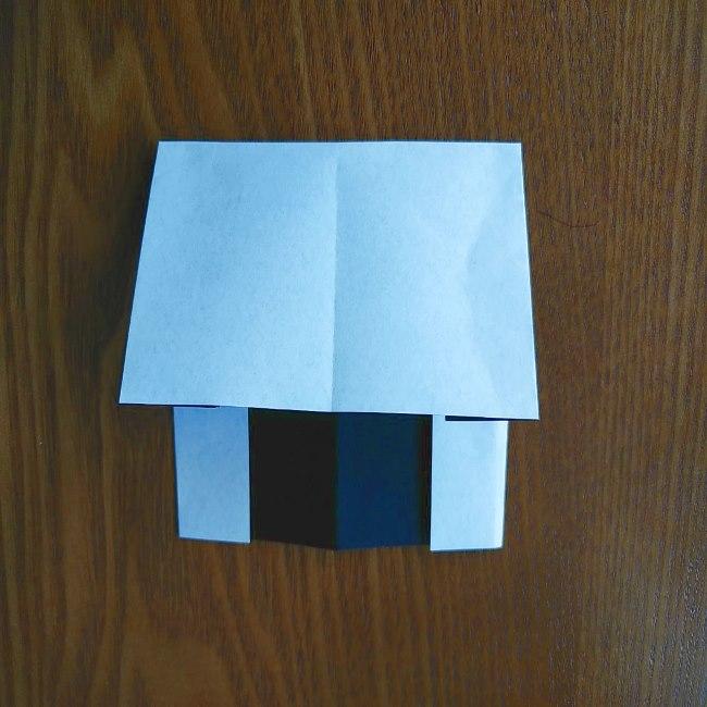 すみっこぐらし『おにぎり』の折り紙*折り方(平面) (7)