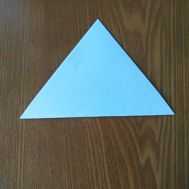 すみっこぐらし『おにぎり』の折り紙*折り方(立体) (1)