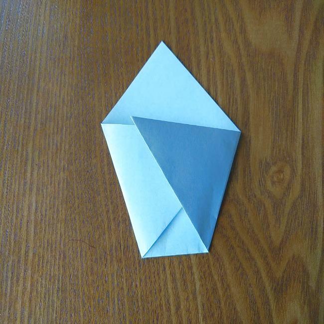 すみっこぐらし『おにぎり』の折り紙*折り方(立体) (2)