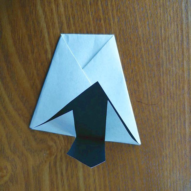 すみっこぐらし『おにぎり』の折り紙*折り方(立体) (4)