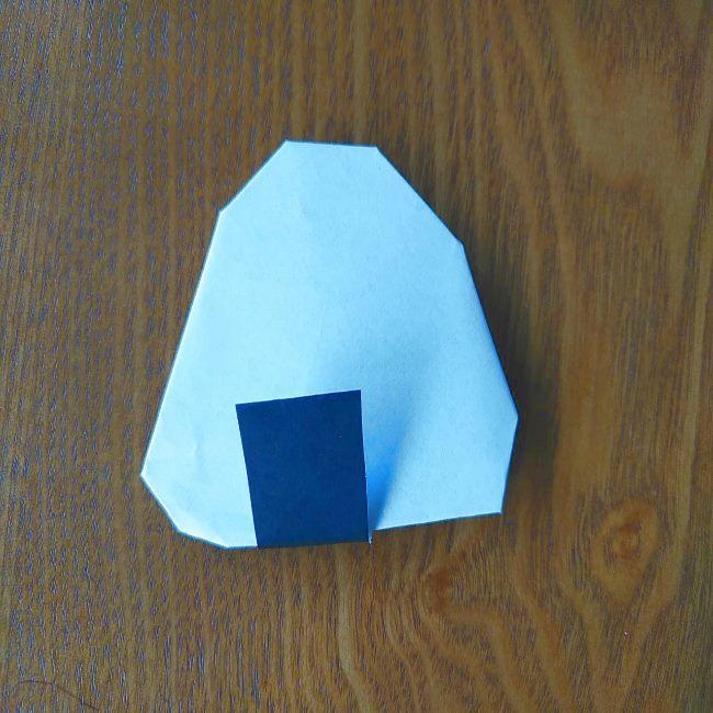 すみっこぐらし『おにぎり』の折り紙*折り方(立体) (6)