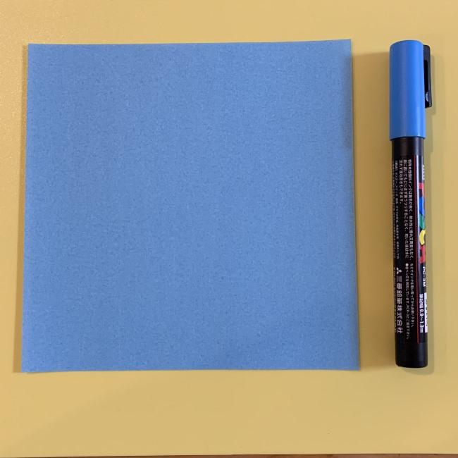 すみっこぐらしの折り紙『やま』用意するもの