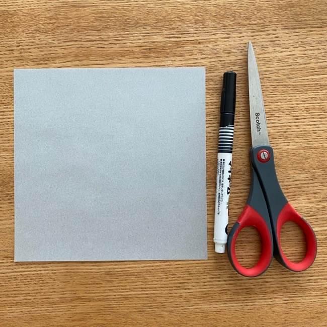 すみっこぐらしの折り紙ほこり《用意する物》