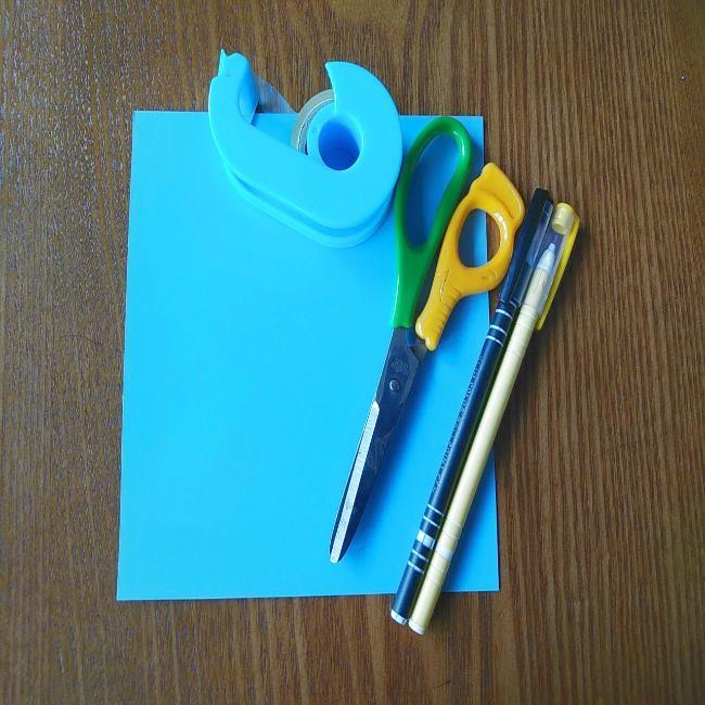 すみっこぐらしの折り紙もぐらぺんぎん(本物):用意する物