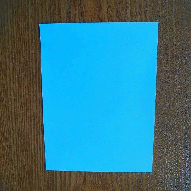 すみっこぐらしの折り紙もぐら・ぺんぎん(本物)の折り方 (1)