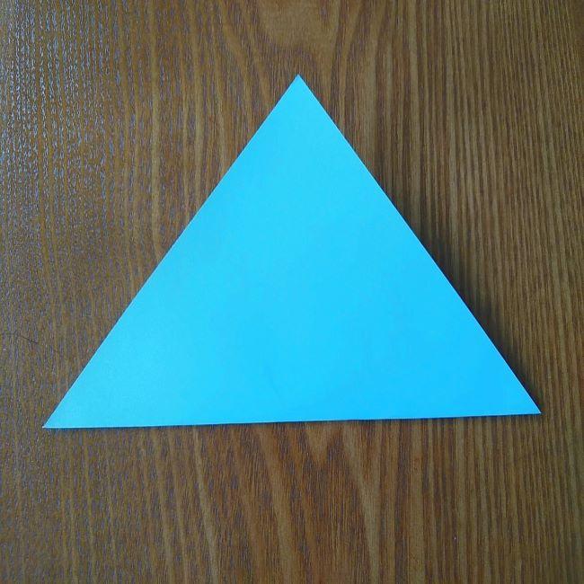 すみっこぐらしの折り紙もぐら・ぺんぎん(本物)の折り方 (2)