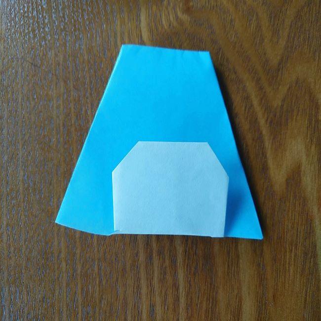 すみっこぐらしの折り紙もぐら・ぺんぎん(本物)の折り方 (7)