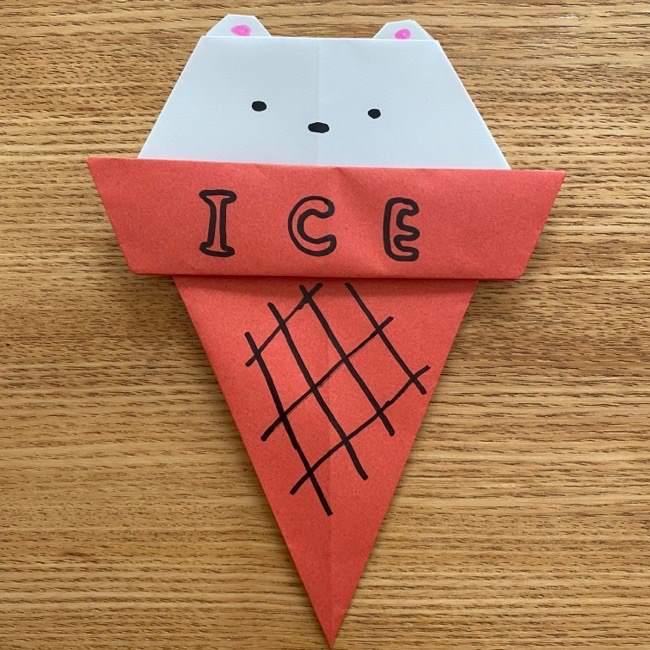 すみっこぐらしの折り紙アイスしろくま (15)