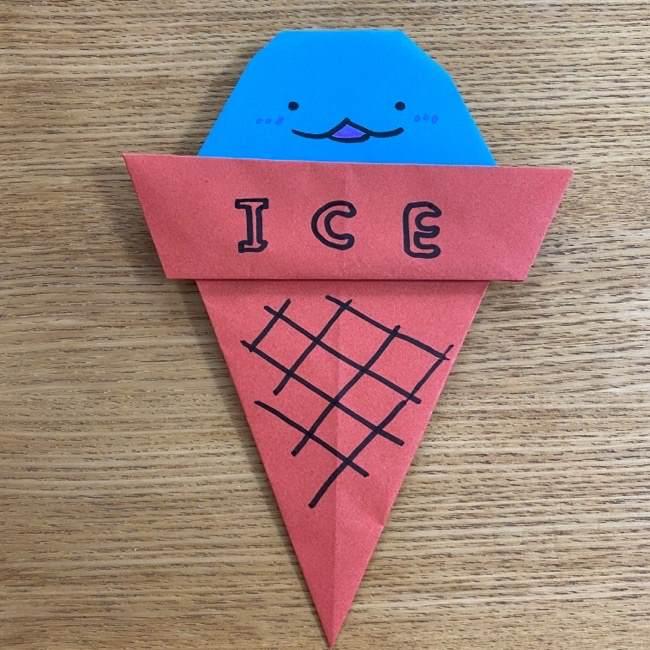 すみっこぐらしの折り紙アイスとかげ (11)