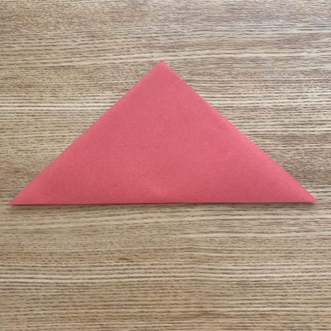 すみっこぐらしの折り紙アイスのコーンの折り方 (2)