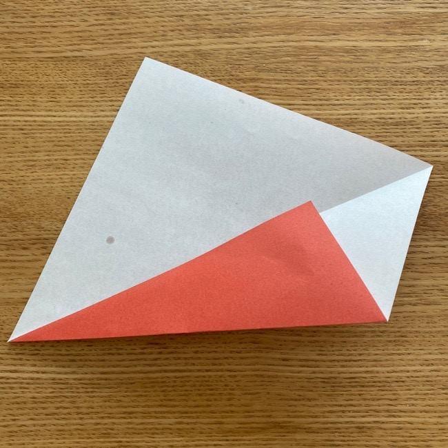 すみっこぐらしの折り紙アイスのコーンの折り方 (3)