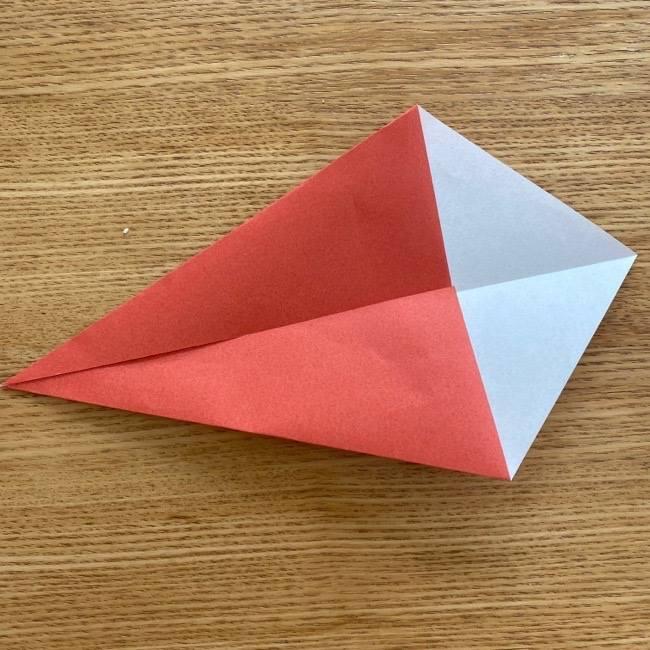 すみっこぐらしの折り紙アイスのコーンの折り方 (4)