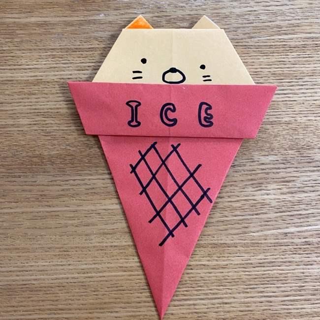 すみっこぐらしの折り紙アイス:折り方作り方 (25)