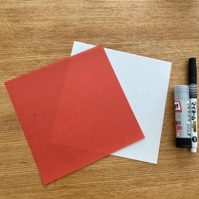 すみっこぐらしの折り紙アイス:用意するもの