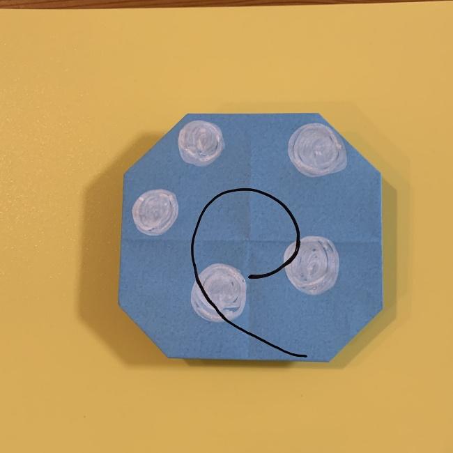 すみっこぐらし にせつむりの折り紙★折り方・作り方 (17)