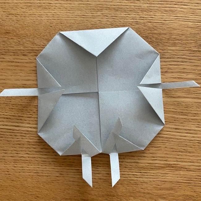 すみっこぐらし 折り紙のほこり《折り方・作り方》 (10)
