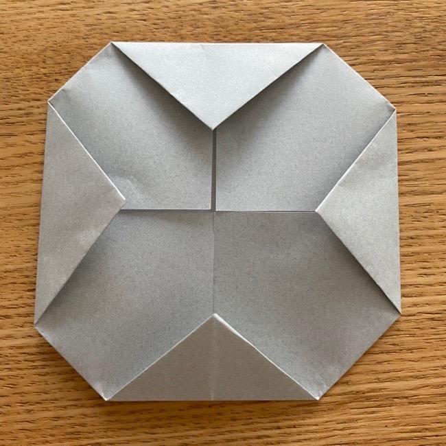 すみっこぐらし 折り紙のほこり《折り方・作り方》 (5)