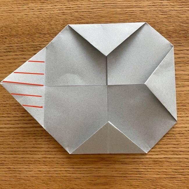 すみっこぐらし 折り紙のほこり《折り方・作り方》 (6)