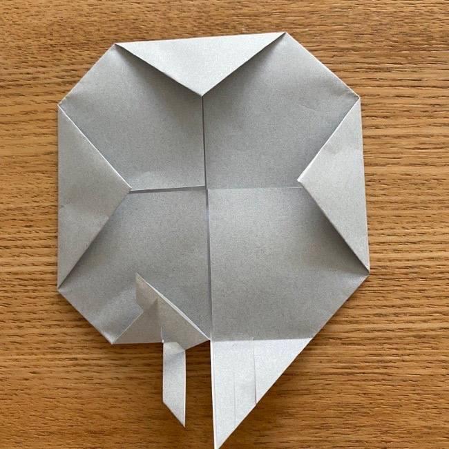 すみっこぐらし 折り紙のほこり《折り方・作り方》 (7)