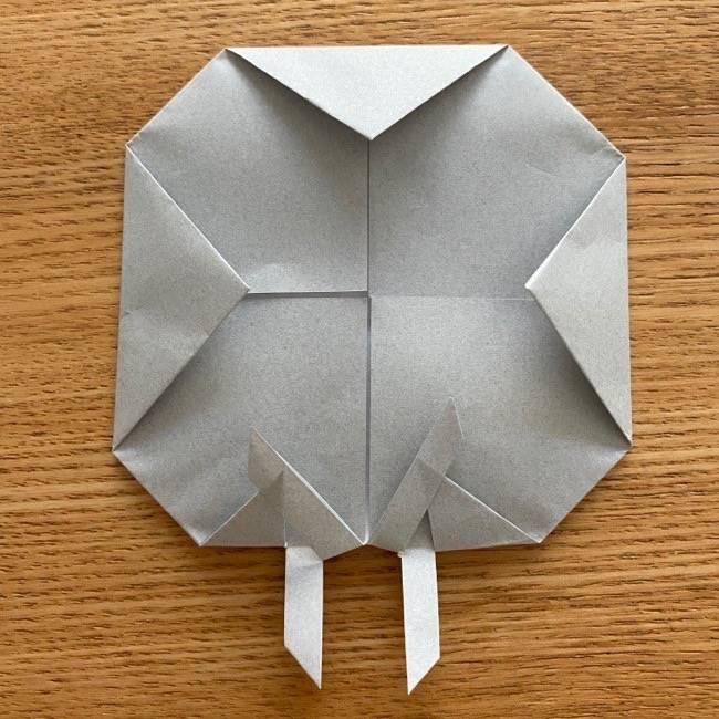 すみっこぐらし 折り紙のほこり《折り方・作り方》 (8)