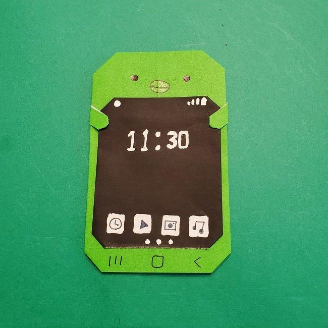 すみっこぐらし 折り紙のスマホ(携帯)*折り方 (22)