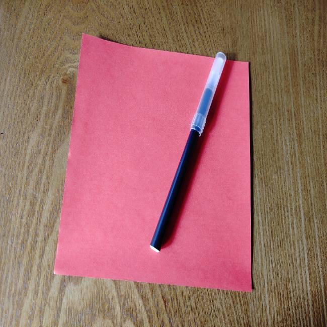 だるまの折り紙(顔)*用意するもの